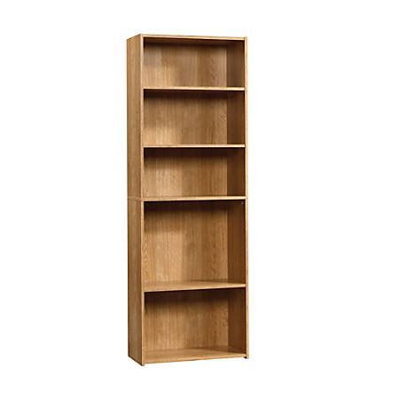sauder bookcase 5 shelf sauder beginnings bookcase 5 shelf highland oak by office