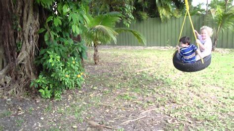 columpios de llantas recicladas isabella y alejandro en columpio llanta 03128 youtube