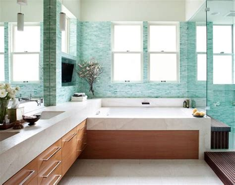 aqua glass tile bathrooms 41 aqua blue bathroom tile ideas and pictures