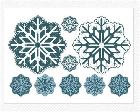 Wall Sticker Snowflakes snowflake wall decals snowflake window decals