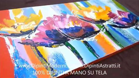 Mobili Dipinti A Mano Moderni by Quadro Moderno Dipinto A Mano Con Fiori Astratti