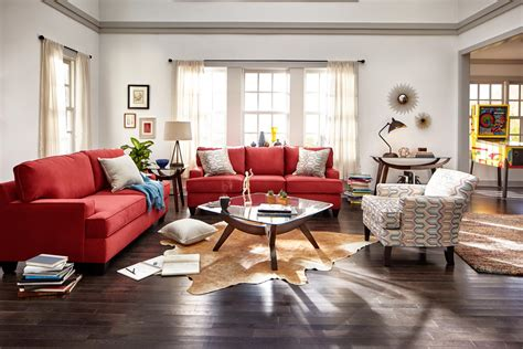 eclectic living room furniture sofa eclectic style red leather living room ideas steve