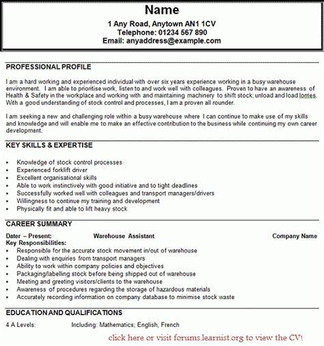 forklift resume sle jennywashere