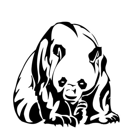 panda tattoo template tribal panda by p0wd3r on deviantart