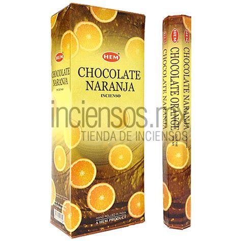 Hem Chocolate incienso hem de chocolate naranja 120 varitas 183 inciensos mx