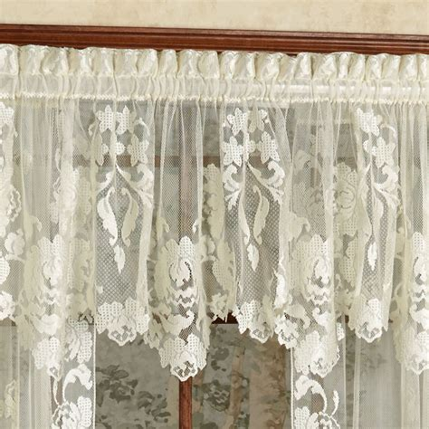touch of class lace curtains windsor floral lace window treatment