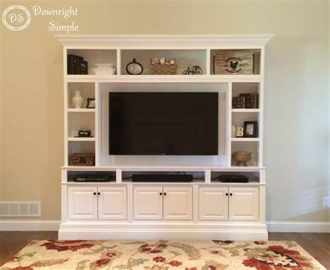 High Kitchen Cabinet by Downright Simple Diy Tv Built In Wall Unit