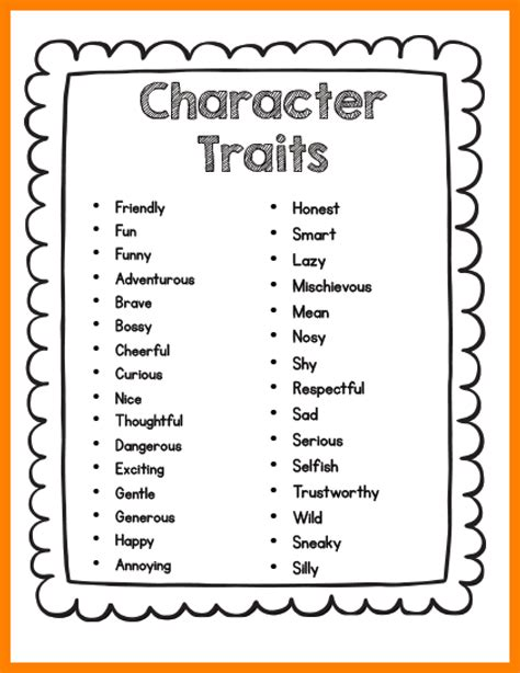 new year personality traits 5 list of character traits janitor resume