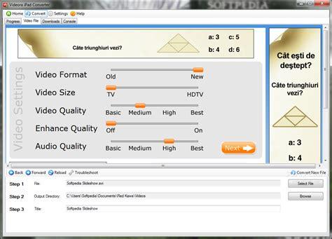 what file format video ipad videora ipad converter download