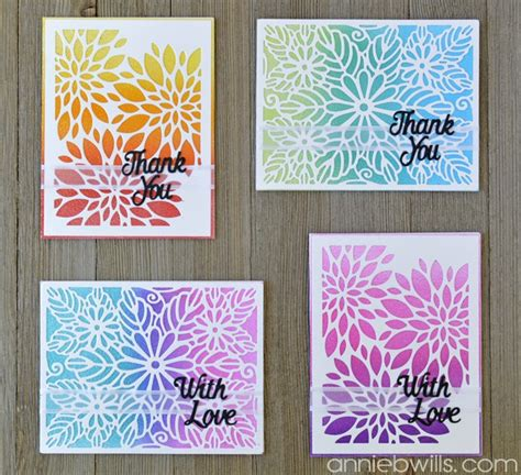 card sets easy ombre glitter card set lab