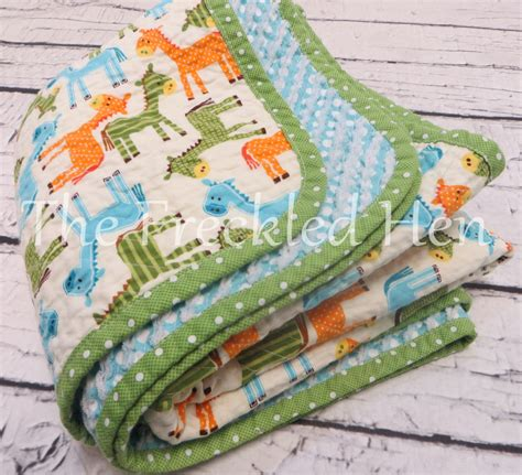 baby quilts handmade faux chenille made baby boy blanket