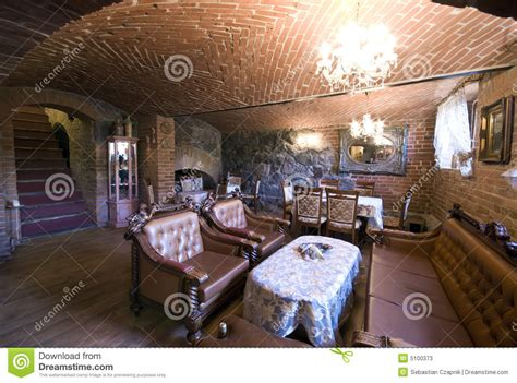 Old Dining Room Chairs Restaurant In Brick Basement Stock Photos Image 5100373