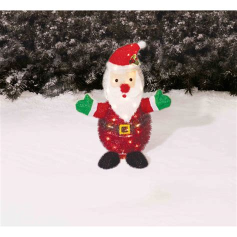 holiday time 28 quot tinsel santa yard decoration walmart com