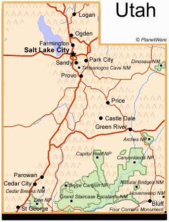 utah national parks map map of utah national parks my