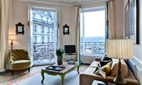 Parisian Living Room by Book 2 Bedroom Apartment Rental On Louis