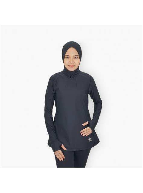 Pakaian Sukan baju sukan muslimah sports top muslim pakaian sukan wanita pakaian sukan muslimah grey