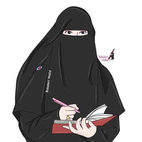 Anime Hijab Cantik Gambar Kartun Wanita Muslimah Berjilbab Cantik