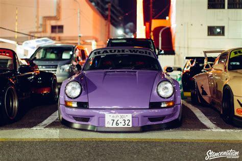 rauh welt porsche purple rwb porsche meet at roppongi japan stancenation
