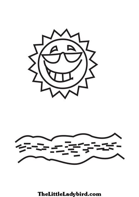 smiling sun coloring page sunglasses coloring pages thelittleladybird com