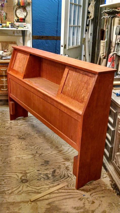 custom  mid century bookcase headboard  starkwood