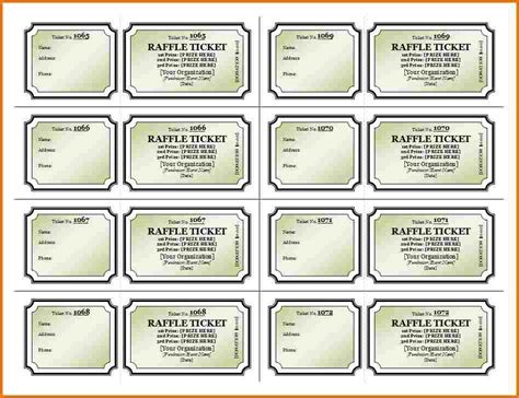 free printable raffle ticket template authorization free raffle ticket template authorization letter pdf