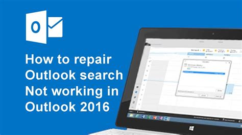 Search Not Working How To Fix Outlook 2016 Search Problems
