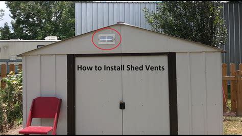 vent  shed diy step  step youtube