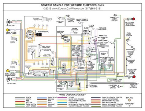 plymouth car color wiring diagram classiccarwiring