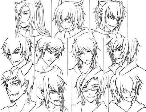 anime hairstyles for guys anime hairstyles 12 inkcloth