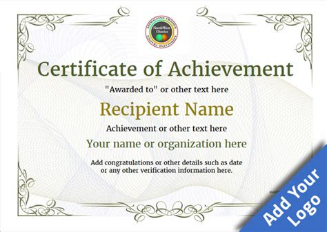 blank certificate of achievement template certificate of achievement free templates easy to use