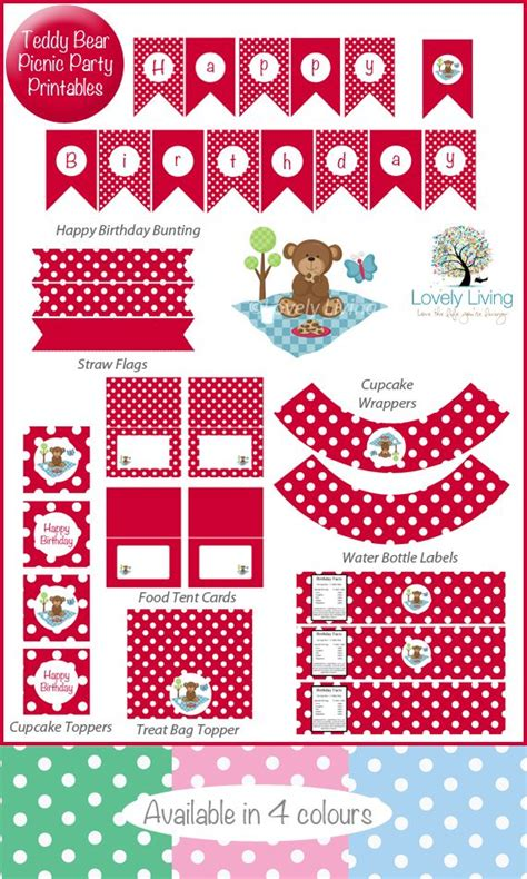 printable birthday cards teddy bear free teddy bear picnic party printable collection in