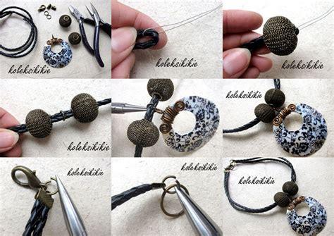 Kait Rangka Anting Gantung Silver Aksesoris membuat kalung tali kulit koleksikikie
