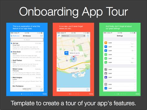tour template app on boarding tour template sketch freebie