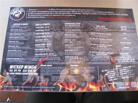 wing house memphis the menu picture of memphis bbq wicked wings milton