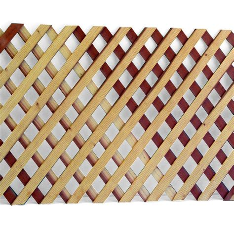 1 4 in x 2 ft x 8 ft redwood privacy lattice