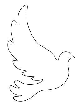Dove Pattern Paper Art Pinterest Patterns Bird Patterns And Bird Dove Template To Print