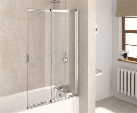 two panel sliding shower bath screen aqualux aqua 4 2 panel slider bath screen 820mm white