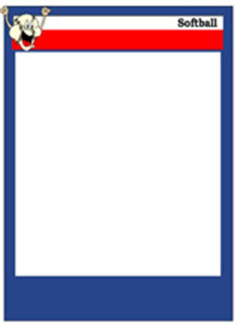 softball trading cards templates softball card templates free blank printable customize