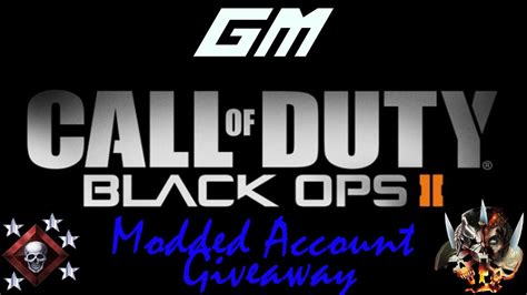 Ps3 Account Giveaway - ps3 bo2 modded account giveaway youtube