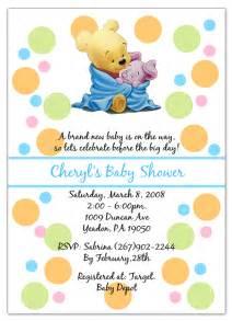 winnie the pooh piglet baby shower invitations