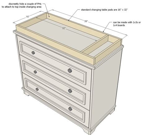Baby Changing Table Plans White Build A Fillman Dresser Or Changing Table Free And Easy Diy Project And Furniture