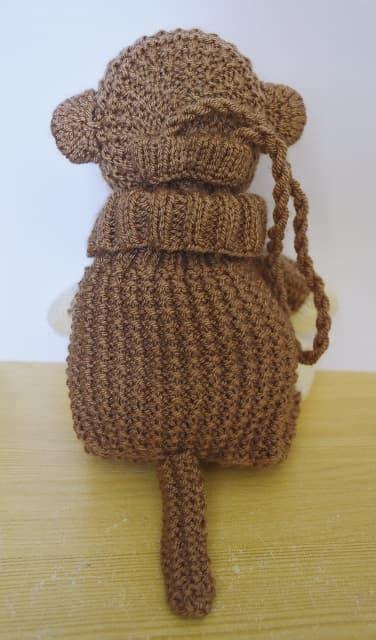 monkey knitting monkey baggles gift bag knitting by post