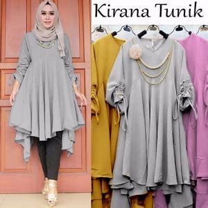 Sale 61123 Flowie Tunic Baju Tunik Murah Atasan Muslim Wanita Murah baju tunik atasan wanita blouse lengan panjang modis