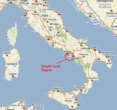 map of amalfi coast salerno italy map images