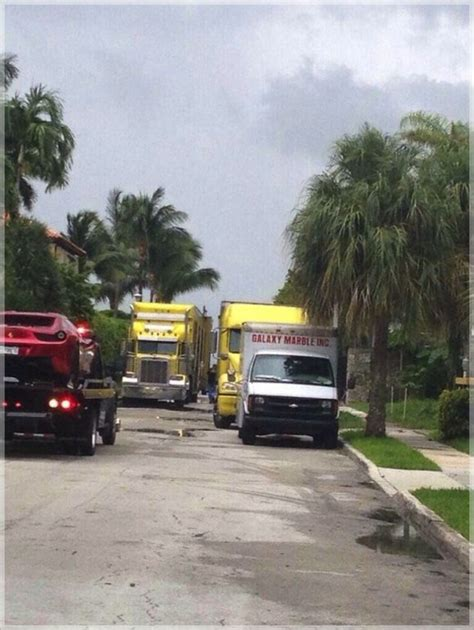 couchs cers new miami ohio moving trucks spotted outside lebron s miami home