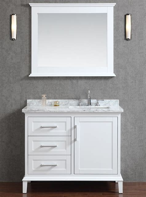 One Bathroom Sink Counter by Sink To One Side Provides More Useable Counter Space Ace
