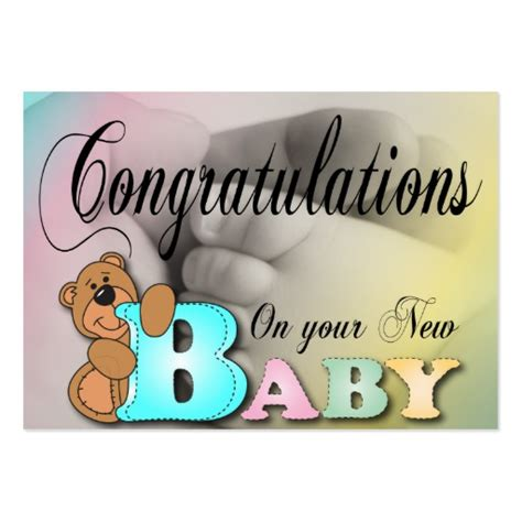 baby congratulations cards templates congratulations on your new baby business cards zazzle