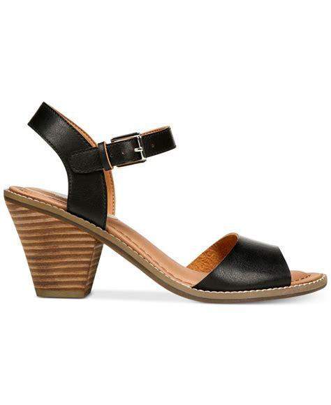 dr scholls sandals dr scholls calistah sandals in black lyst