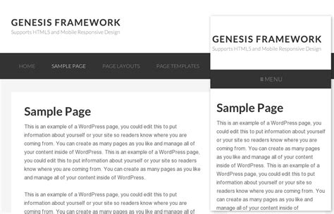genesis responsive responsive website navigation for genesis themes