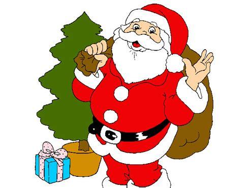 imagenes de santa claus para blackberry dibujo de papa noel repartiendo regalos pintado por